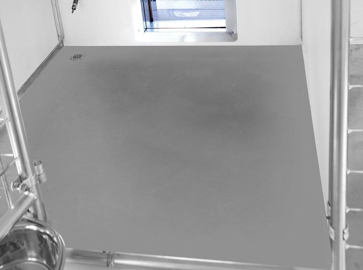 stainless steel wash down tray dog kennel options