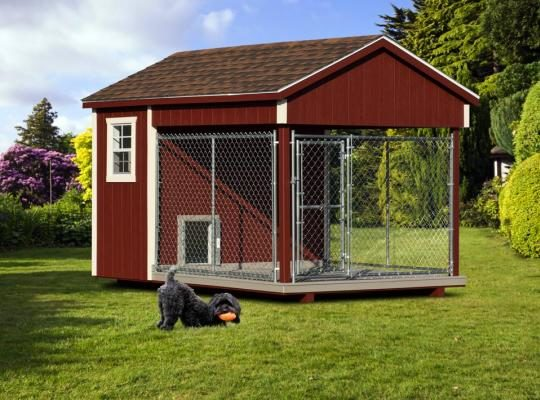 8x12 amish dog kennel red 0