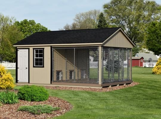 insulated dog kennels and runs 12x18 triple trad