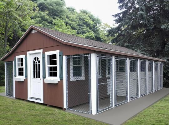 insulated dog kennels and runs custom 20x28 2