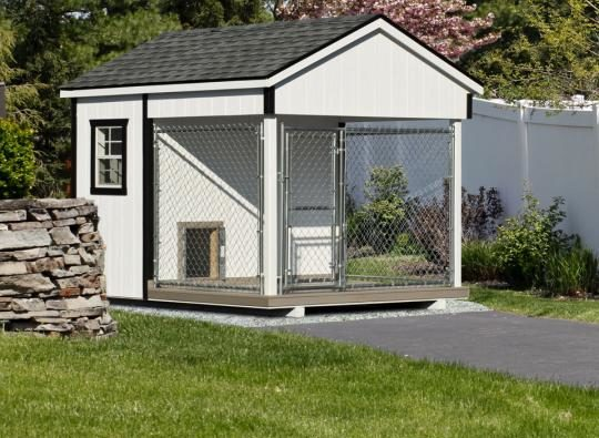 8x10 amish dog kennel white 0