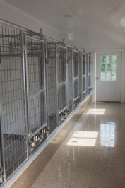 14x32 dog kennel interior