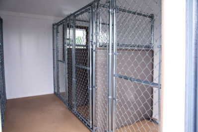 12x24 dog kennel interior