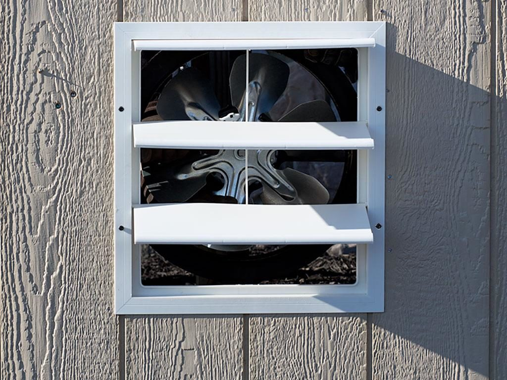 exhaust fan with thermostat dog kennel options