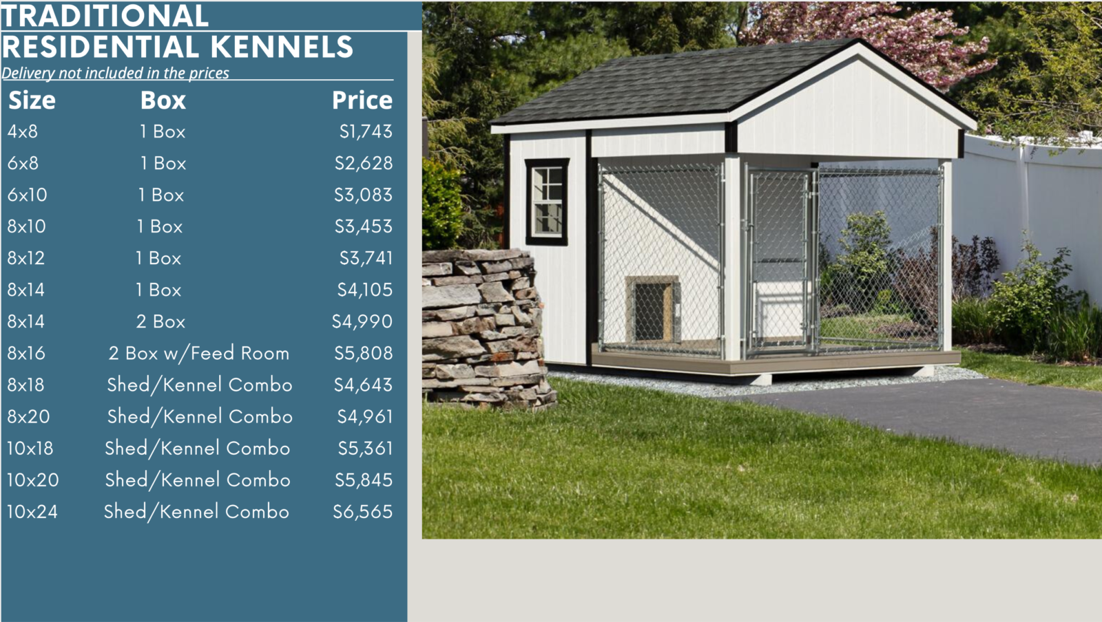 traditional dog kennel prices