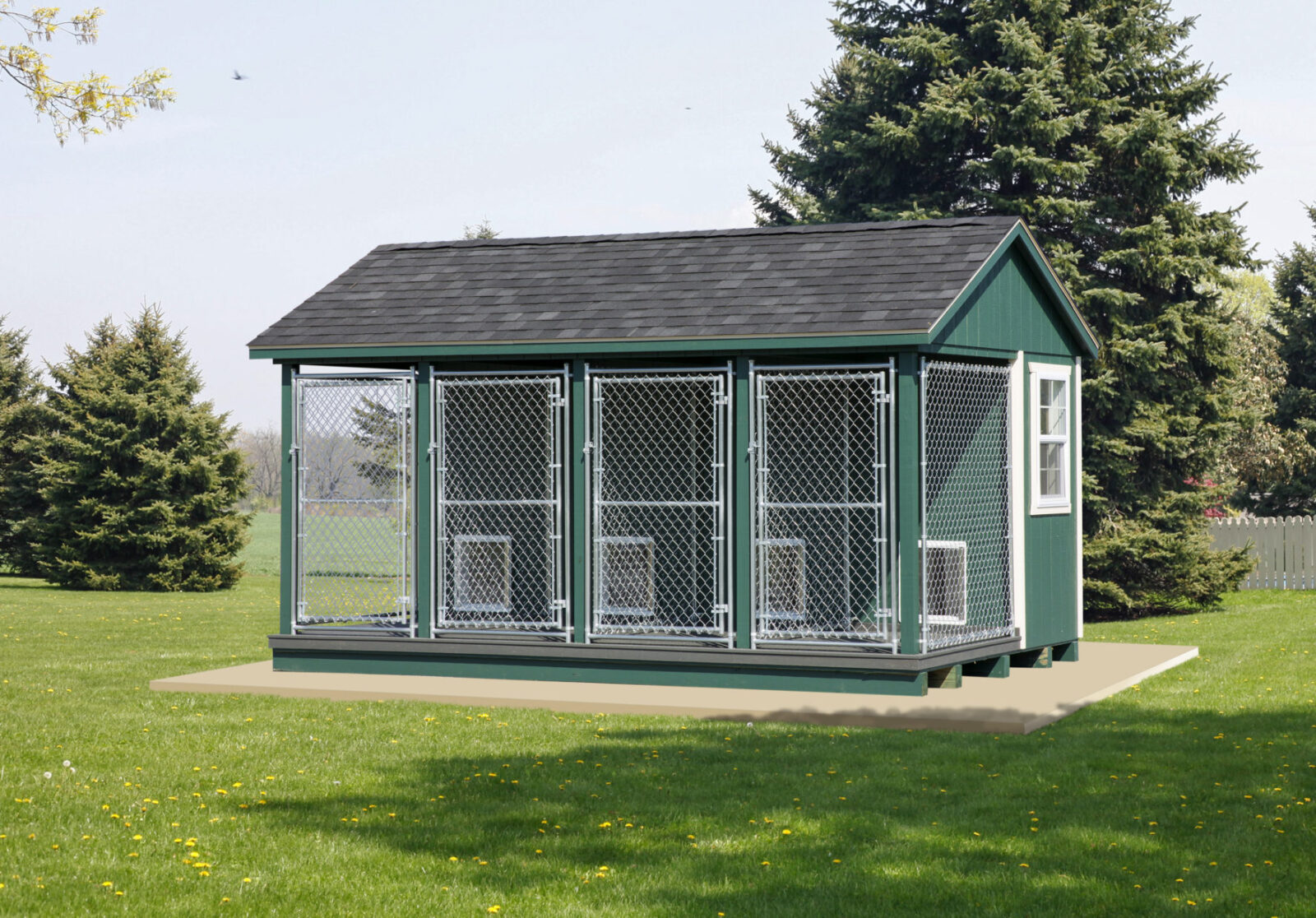 4 box puppy kennels