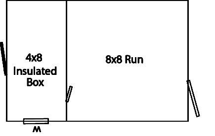 8x12 standard kennel