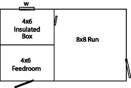 8x14 amish dog kennel floor plan