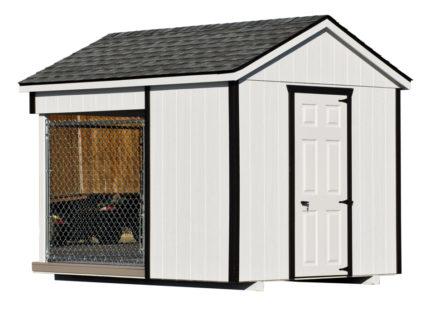 8x10 amish dog kennel white alt