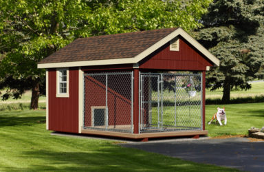 8x12 quality dog kennel red
