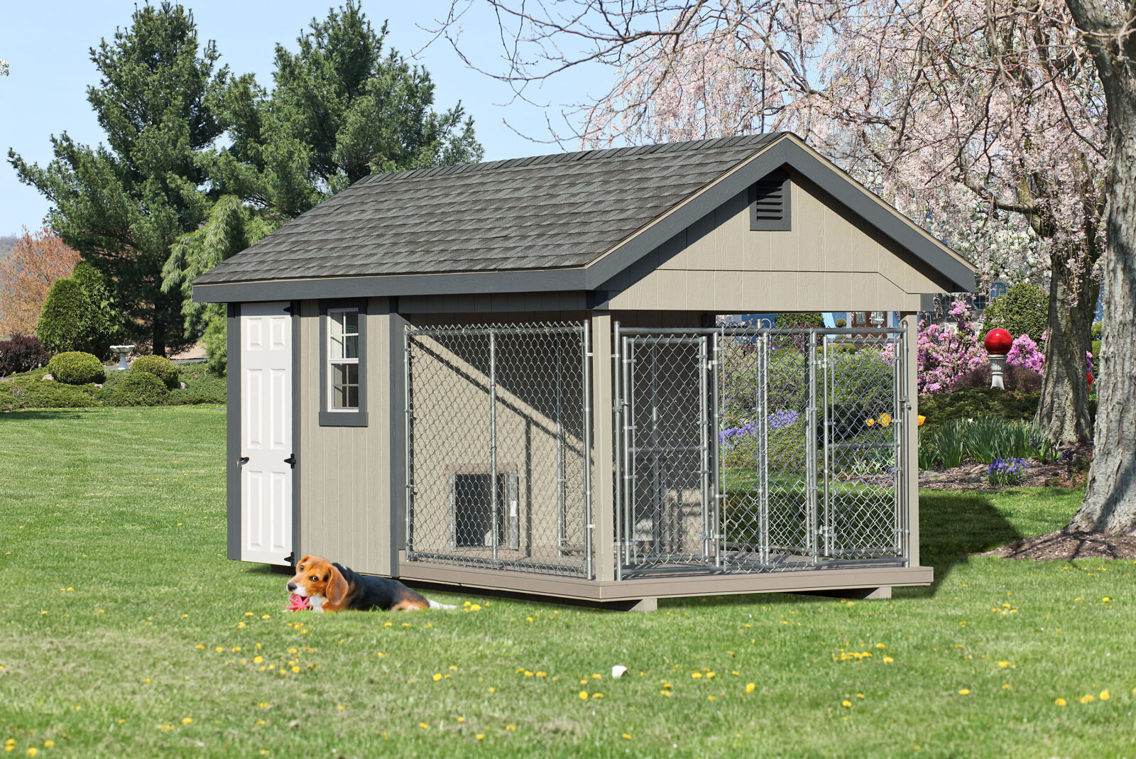 amish built residential outdoor dog kennels